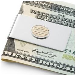 14k Gold Monogram Money Clip and Valet Box