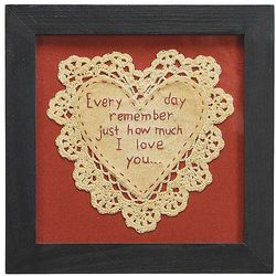 Every Day Remember Heart Doily Sampler