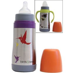 Stainless Steel Birds Baby Bottle and Sippy Cup