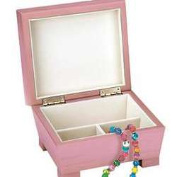 Personalized Pink Jewelry Box