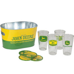 John Deere Pint Glass and Tub Gift Set