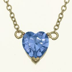 Solitaire Heart December Birthstone Pendant