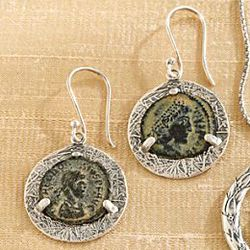 Emperor Constantine Coin Earrings