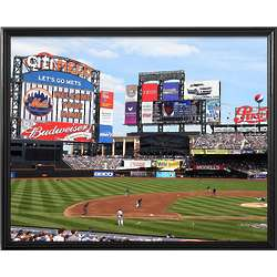 New York Mets Personalized Scoreboard 16x20 Framed Canvas