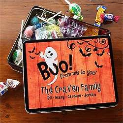 Halloween Ghost Personalized Candy Tin