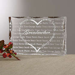 Personalized Always Loved Heart Lucite Block