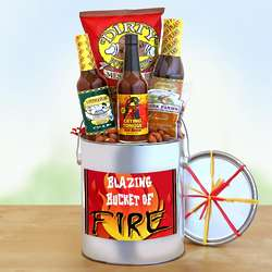 Hot and Spicy Snacks Gift Bucket