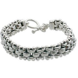 Men's Sterling Silver Freedom Link Bracelet