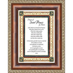 Framed and Matted Prayer to St. Francis of Assisi