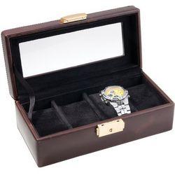 Men's Brown Calfskin Leather Watch Box