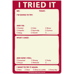 I Tried It Sticker Notepad