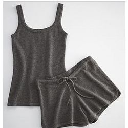 Cashmere Tank and Short Loungewear Set