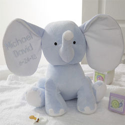 Personalized Plush Blue Elephant Stuffed Animal