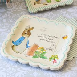 "Peter Rabbit 10"" Square Party Plates"