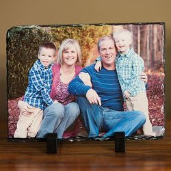 Personalized Photo on Rectangle Slate Plaque