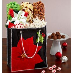 Winter Floral Sweets and Snack Tote