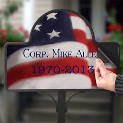American Flag Memorial Stake with Magnet
