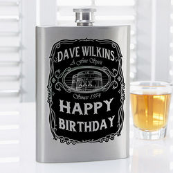 Whiskey Label Personalized Flask