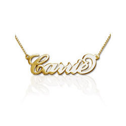 18k Gold-Plated Sterling Silver 'Carrie' Style Name Necklace