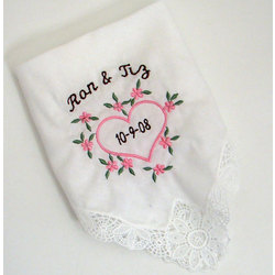 Heart of Love Personalized Hanky