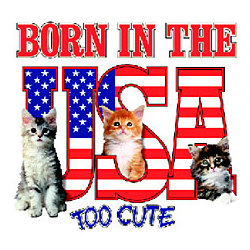 Born In The USA Cat T-Shirt