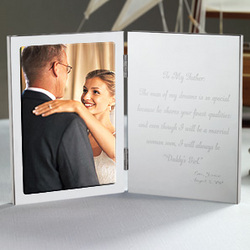To My Father Tablet Frame for Father of the Bride