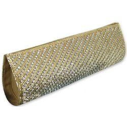 Golden Stars Align Beaded Clutch Handbag