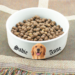 Photo and Text Personalized Dog Bowl