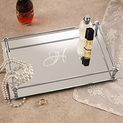 Initial Impressions Mirrored Vanity Tray