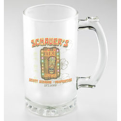 Personalized Tiki Lounge Frosted Sports Mug