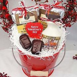 Valentine's Day Breakfast for Two Gift Bucket
