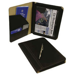 Executive Black Leather iPad Case