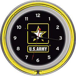 US Army Neon Clock