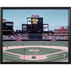 Atlanta Braves Personalized Scoreboard 11x14 Framed Canvas