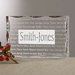 Family is Forever Family Names Plaque