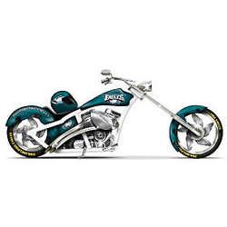 NFL Philadelphia Eagles Motorcycle Figurine