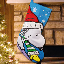 Snoopy and Woodstock Christmas Stocking