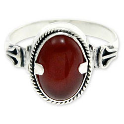 Men's Dragon Eye Carnelian Ring