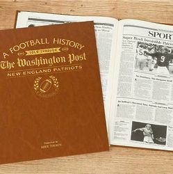 Washington Post New England Patriots Personalized Book