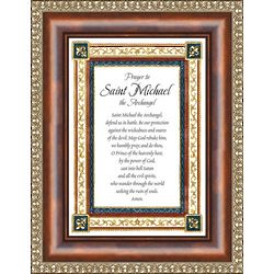 Prayer to St. Michael The Archangel Matted and Framed Print