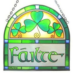 Filte Hanging Stained Glass Panel