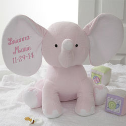Personalized Plush Pink Elephant Stuffed Animal