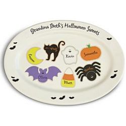 Personalized Halloween Sweets Platter