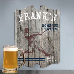 Vintage Homerun Personalized Man Cave Sign