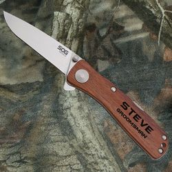 Personalized Knife with Classic Rosewood Handle