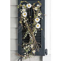 Faux Daisy Bouquet Wreath