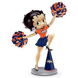 3 Boop-Oop-a-Doops Denver Broncos Ringing Bell Figurine
