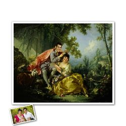 Classic Painting Love in Garden Personalized Print