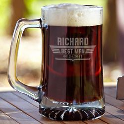 Maverick Custom Glass Beer Mug