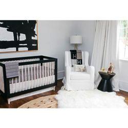 Crib Bedding Set in Black and White